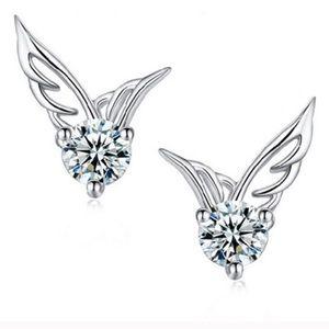 Swarovski Crystal Diamond Wing Earrings